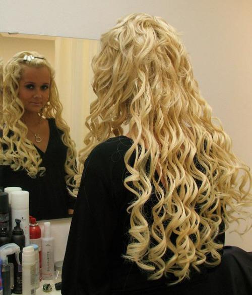 Прически из нарощенных волос