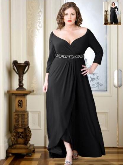 Модели вечерних платьев для полных женщин и девушек.