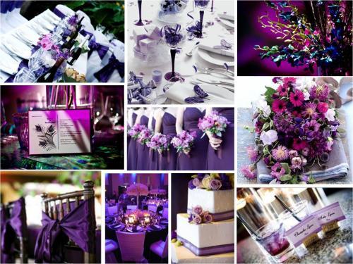 цветовую схему для свадьбы