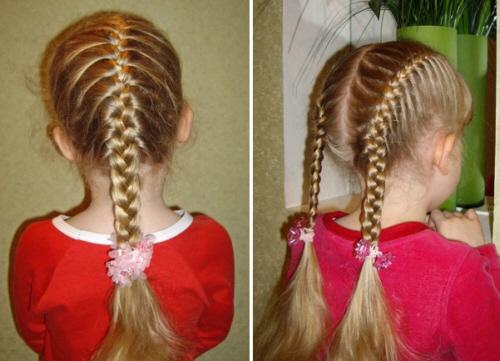 Детские прически и стрижки для девочек.  Повседневные и вечерние варианты причесок для .